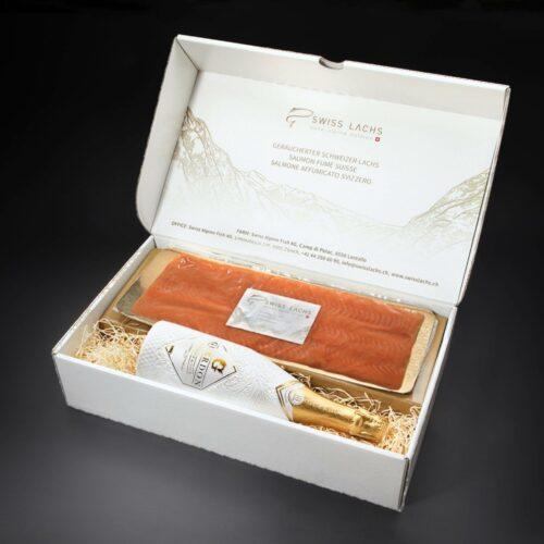 Geschenkbox Reraeuchtelacht 500g champagne 1 scaled 2 - SWISS LACHS Alpiner Lachs