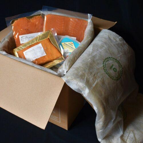 Verpackung mit Isolationsmatte - SWISS LACHS Alpiner Lachs